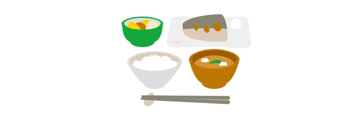 栄養バランスのいい食事イラスト