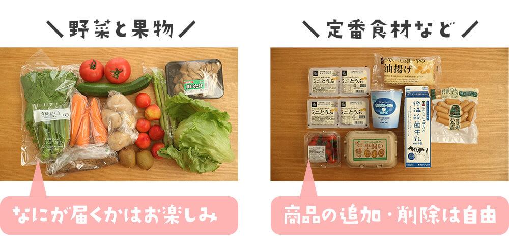 旬野菜と定番食材コースの図解
